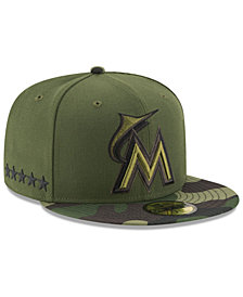 New Era Boys' Miami Marlins Memorial Day 59FIFTY Cap