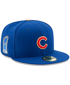 New Era Chicago Cubs Authentic Collection 2016 World Series Commemorative Gold 59FIFTY Cap