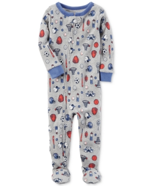 Carters 1Pc SportsPrint Cotton Footed Pajamas Baby Boys (024 months)