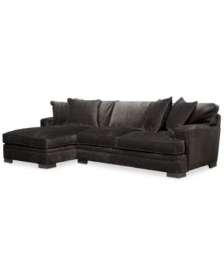 Teddy Fabric 2 Piece Chaise Sectional Sofa, Created For Macyu0027s
