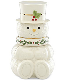 Lenox Happy Holly Days Snowman 3 Stackable Bowls Set