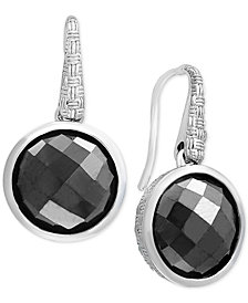 EFFY® Hematite (12mm) Drop Earrings in Sterling Silver