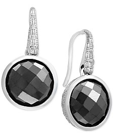 EFFY® Hematite (12mm) Drop Earrings in Sterling Silver