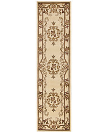 "CLOSEOUT! Kas Corinthian 5311 Ivory Aubusson 2'2"" x 7'11"" Runner Rug"