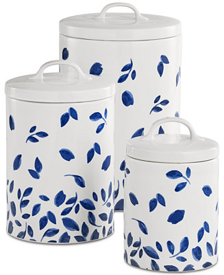 Martha Stewart Collection 6 Pc Stockholm Lidded Canisters