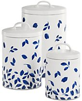 Martha Stewart Collection 6-Pc. Stockholm Lidded Canisters Set, Created for Macy's