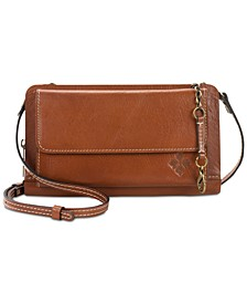 Azario Smooth Leather Crossbody Organizer Wallet