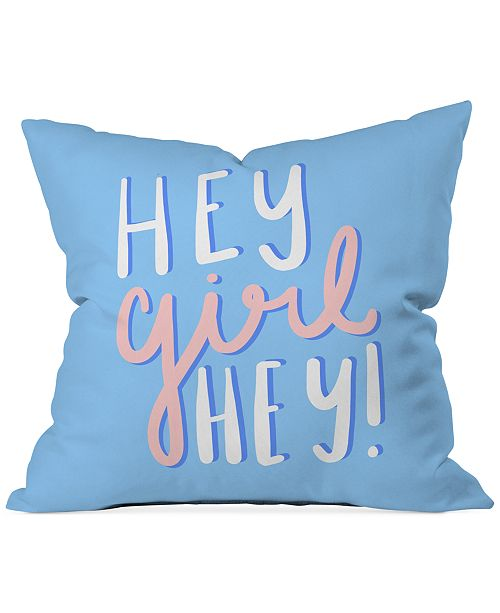 "Deny Designs Hey Girl Hey 16"" Sq. Decorative Pillow"