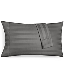 "1.5"" Stripe Standard Pillowcase Set, 550 Thread Count 100% Supima Cotton, Created for Macy's"