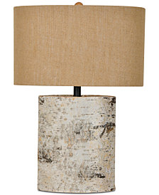 Crestview Birch Wood Table Lamp