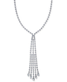 Nina Silver-Tone Crystal Y-Necklace