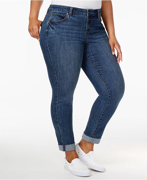 b168e72678d39 ... Style   Co Plus Size Boyfriend Jeans
