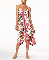 INC International Concepts Paisley-Print Handkerchief-Hem Dress, Only at Macy's