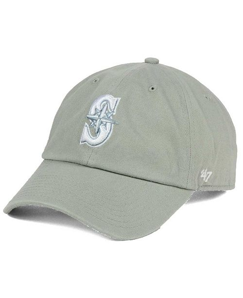 '47 Brand Seattle Mariners Gray White CLEAN UP Cap