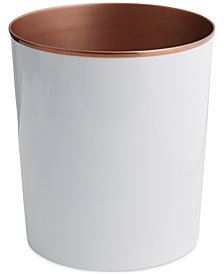Paradigm Tuxedo White Wastebasket