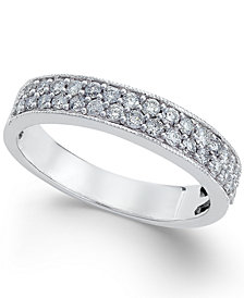 Diamond  Two-Row Band (1/2 ct. t.w.) in 14k White Gold