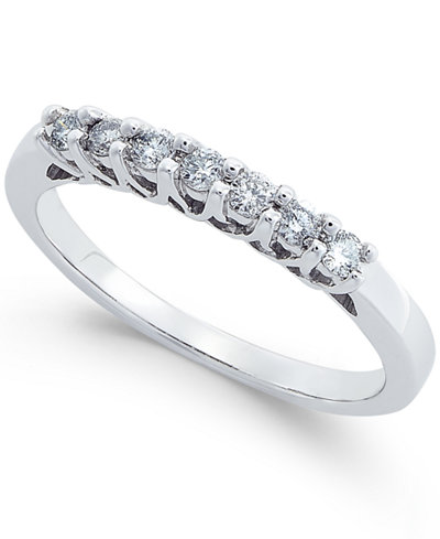 Diamond Seven Stone Band (1/4 ct. t.w.) in 14k White Gold