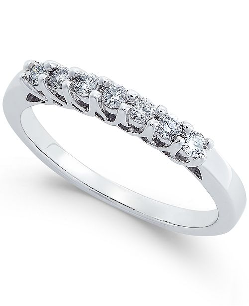 Macy's Diamond Seven Stone Band (1/4 ct. t.w.) in 14k White Gold