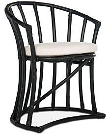 Bate Rattan Accent Chair, Quick Ship