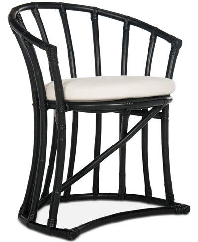 Bate Rattan Accent Chair, Quick Ship