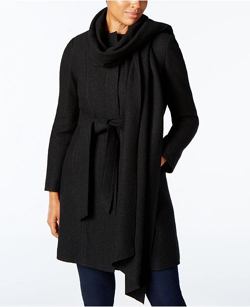 Cole Haan Walker Coat with Scarf