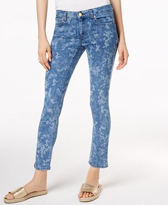 MICHAEL Michael Kors Izzy Printed Skinny Jeans - Jeans - Women ...