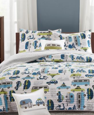 Road Trip Reversible 3-Pc. Quilted Twin Coverlet Set