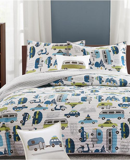 INK+IVY Road Trip Reversible Quilted Coverlet Sets