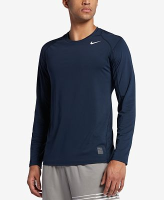 Nike Men's Pro Cool Dri-FIT Fitted Long-Sleeve Shirt - T-Shirts ...