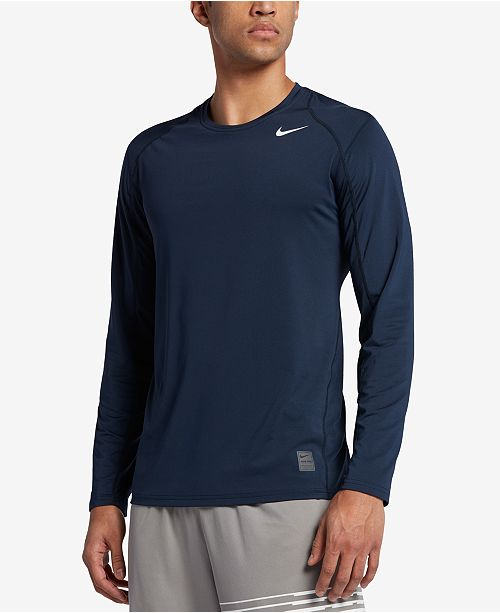 a69490445f2cf Nike Men s Pro Cool Dri-FIT Fitted Long-Sleeve Shirt - T-Shirts ...