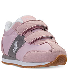 Polo Ralph Lauren Toddler Girls' Zuma EZ Casual Sneakers from Finish Line