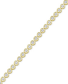 Diamond Circle Link Bracelet (1/4 ct. t.w.)