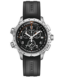 Hamilton Men's Khaki X-Wind Black Rubber Strap Watch 46mm