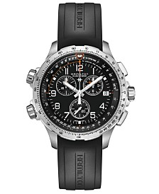 Hamilton Men's Khaki X-Wind Black Rubber Strap Watch 46mm