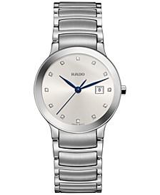 Women's Swiss Centrix Diamond-Accent Stainless Steel Bracelet Watch 28mm