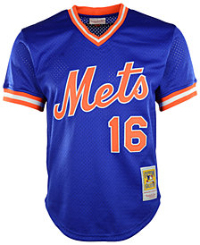 Mitchell & Ness Men's Dwight Gooden New York Mets Authentic Mesh Batting Practice V-Neck Jersey