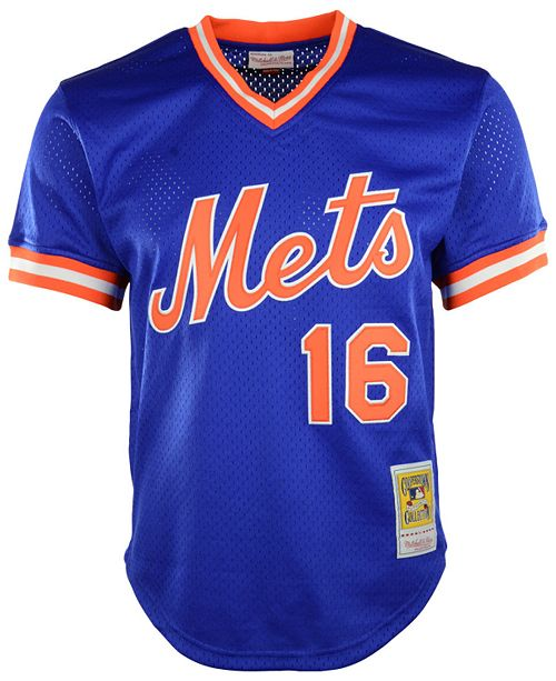 los angeles 4a96b 05f76 Men's Dwight Gooden New York Mets Authentic Mesh Batting Practice V-Neck  Jersey