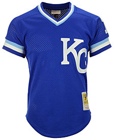 Mitchell & Ness Men's Bo Jackson Kansas City Royals Authentic Mesh Batting Practice V-Neck Jersey