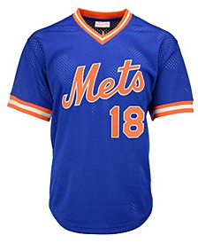 Men's Darryl Strawberry New York Mets Authentic Mesh Batting Practice V-Neck Jersey