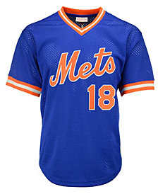 Mitchell & Ness Men's Darryl Strawberry New York Mets Authentic Mesh Batting Practice V-Neck Jersey