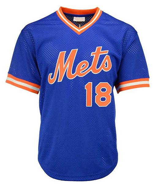 separation shoes c5594 aa82a Men's Darryl Strawberry New York Mets Authentic Mesh Batting Practice  V-Neck Jersey