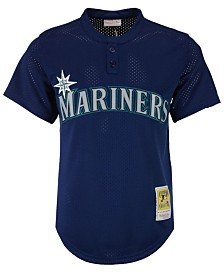 Mitchell & Ness Men's Randy Johnson Seattle Mariners Authentic Mesh Batting Practice V-Neck Jersey