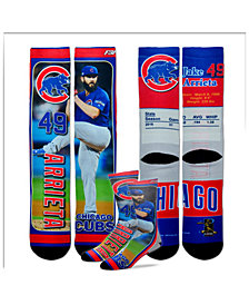 For Bare Feet Jake Arrieta Chicago Cubs Trading Card Player Crew Socks