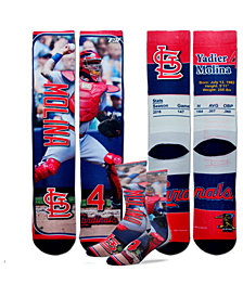 For Bare Feet Yadier Molina St. Louis Cardinals Trading Card Player Crew Socks