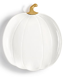 Martha Stewart Collection Harvest Large Pumpkin Serving Platter, Created for Macy's