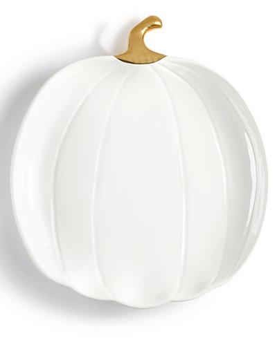 Martha Stewart Collection Harvest Large Pumpkin Serving Platter, Created for Macy's