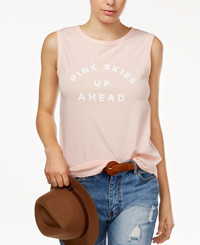 ban.do Cotton Pink Skies Up Ahead Graphic Tank Top