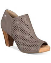Giani Bernini Angye Perforated Peep-Toe Shooties, Created for Macy's