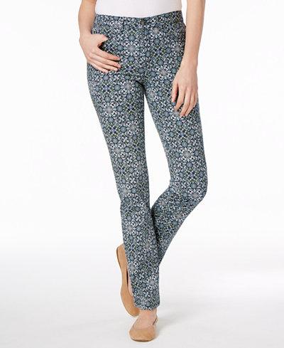 Charter Club Lexington Printed Straight-Leg Jeans, Created for Macy's