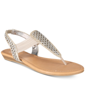 Material Girl Siera Flat Thong Sandals, Created for Macy